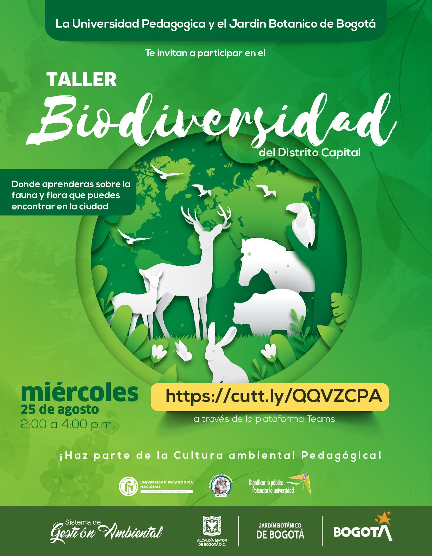 Taller Biodiversidad en el Distrito Capital